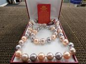 MASAMI MOTHER OF PEARL SHELL NECKLACE, BRACELET, EARRINGS SET S925